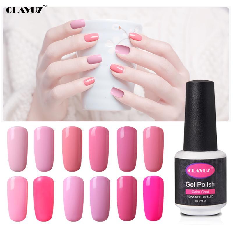 CLAVUZ arte de uñas 8ml rosa Gel Polaco Semi permanente Vernis ...