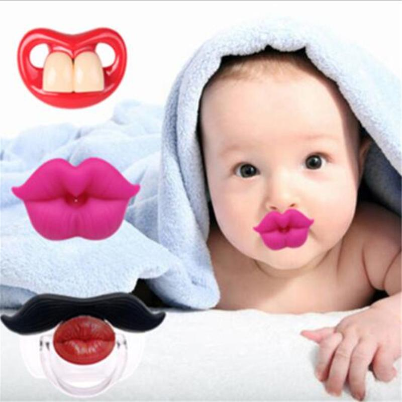 1X Funny Baby Kids Kiss Silicone Infant Pacifier Nipples Dummy Lips Pacifie FO