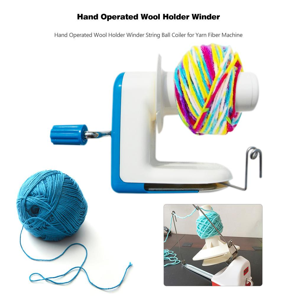 ABS Embellish Knit Maker Spool Winder Tool Blue Knitting Machine 1 Set
