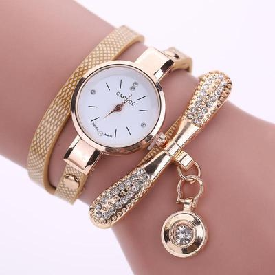 Luxury Women's Fashion Ladies Faux Leather Analog Quartz Wrist Watches