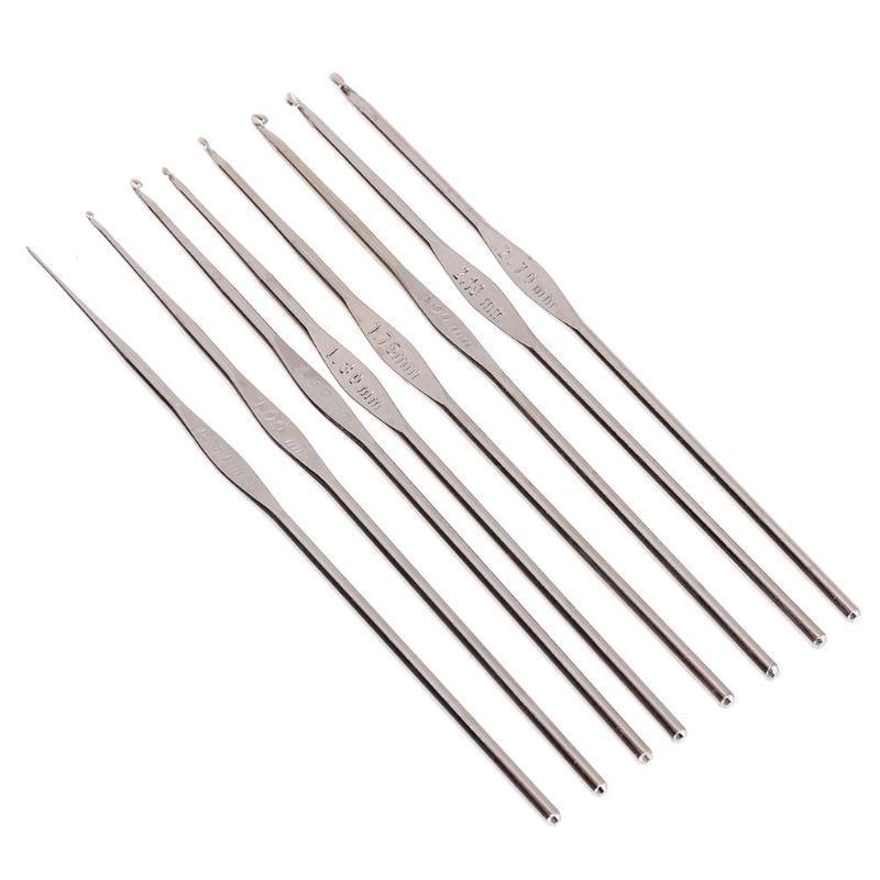 8ST Lace Stricknadeln Metallhaken häkeln Vorlage Kit gemischt ...