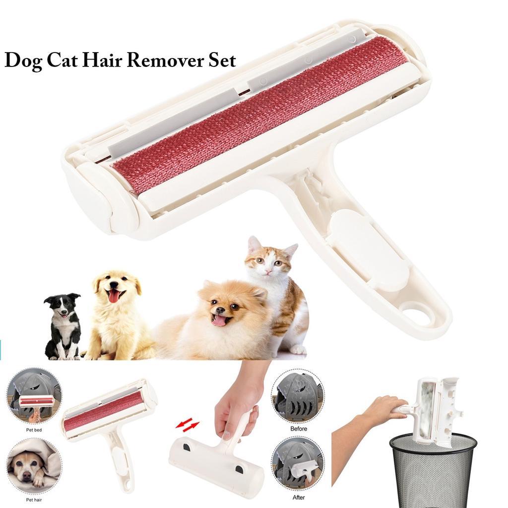 Pet Hair Remover Cleaner Brush Sweeper Static Roller Brush Easy Clean Dog Cat