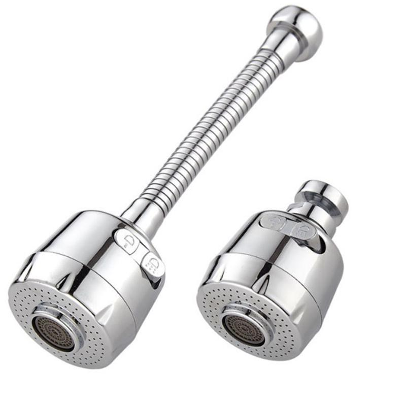 Universal Faucet Sprayer Head Extension Device Filter Kitchen Shower Long Water-Saving Device foaming Nozzle Faucet silver ZN Faucet Extender Sprayer