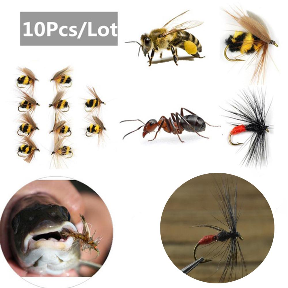 40pcs Lot Black Ant Single Hook Fly Flies Fishing Trout Salmon Flies Fly Tackle Set Box Fly Fishing Lure