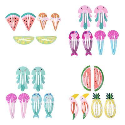 6pcs//Set Cute Animal Girls Kids Hair Clip Hairpin Headwear Children Styling New