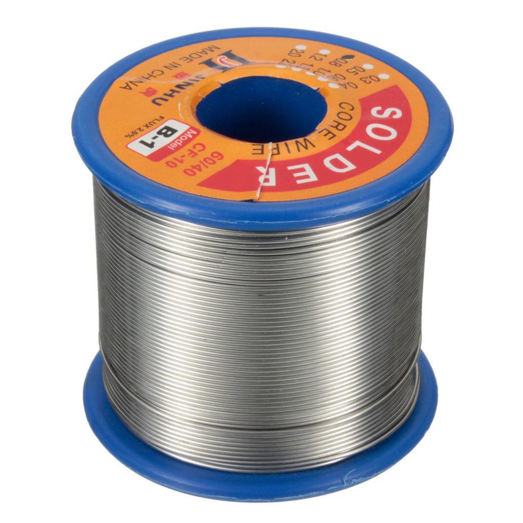 500g 60//40 0,8 mm stagno piombo 2/% flusso Rosin Core Solder saldatura ferro aspo