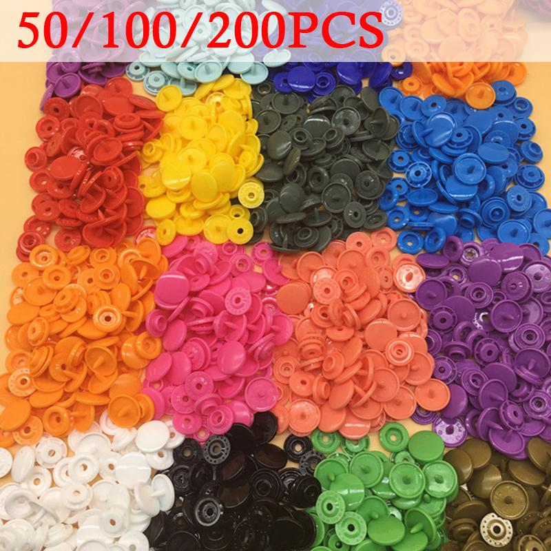 200 Set Plastic White Button Snap Fastener Press Stud Poppers 12.4mm T5