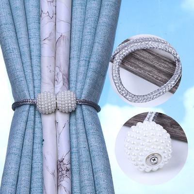 Pearl Magnet Curtains Buckles Modern Window Curtains Magnetic Tieback Holder Clips Holdbacks Curtain Strap Accessories