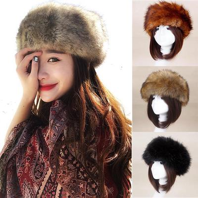 5dd4533ba7a Women Soft Faux Fur Beanies Winter Hats Fluffy Hats Warm Cap Ladies Thick  Fashion Decor