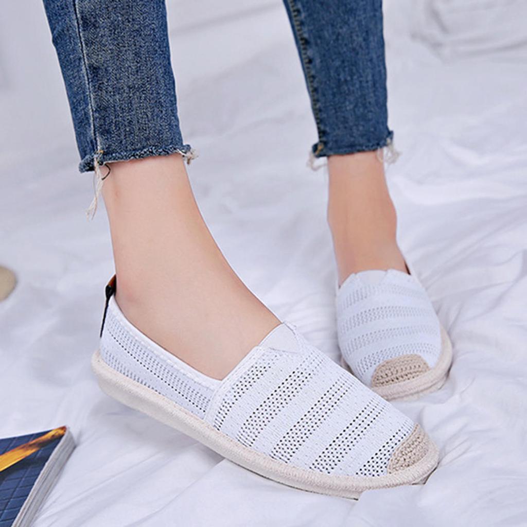 Malla De Otono Mujer Transpirable Casual Alpargatas Zapatos Tallas Grandes Pisos Comprar A Precios Bajos En La Tienda En Linea Joom