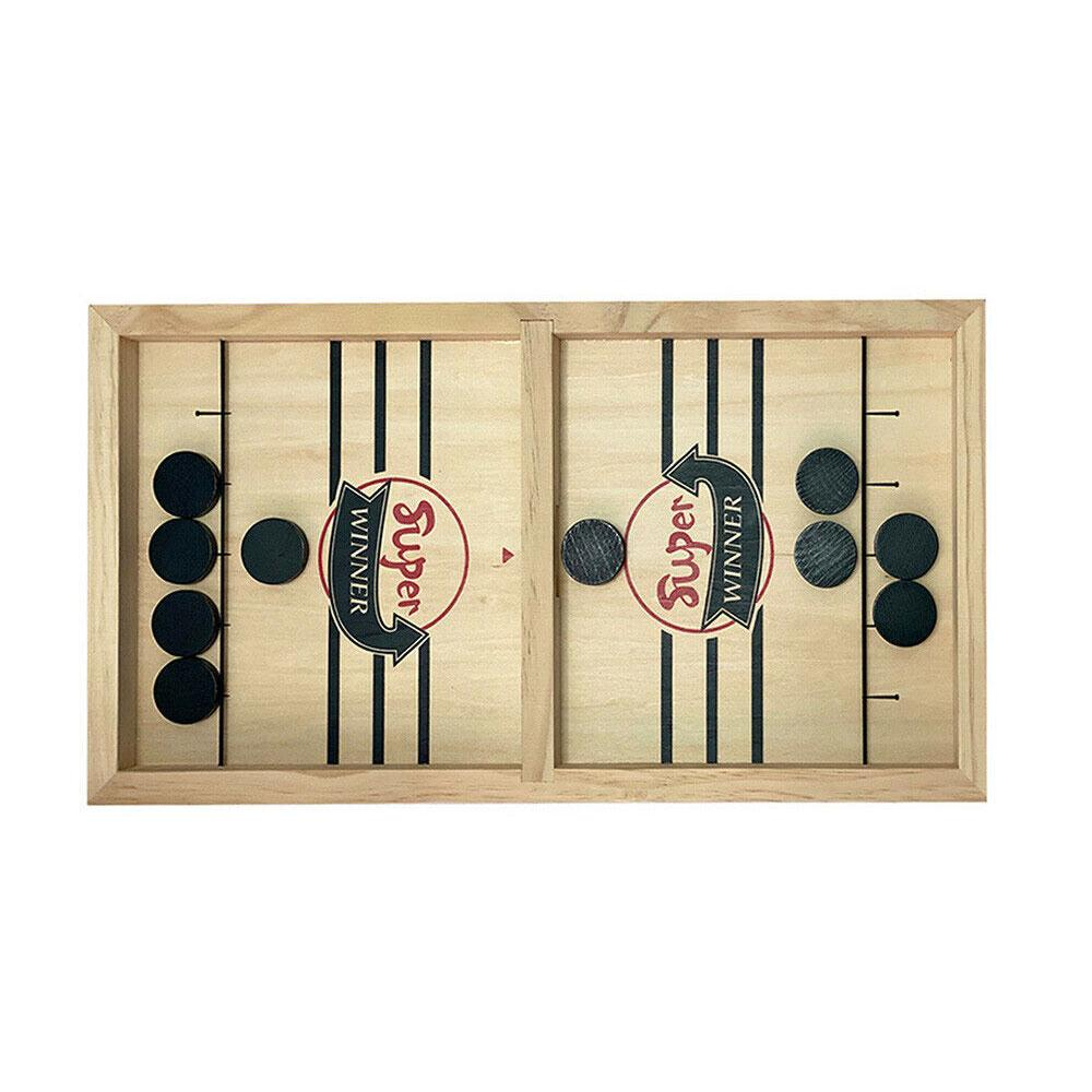 Fast Sling Puck Game Paced SlingPuck Winner Board Family Games Child Play Toys