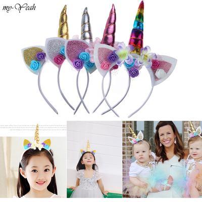 Magical Horn Head Party Kid Hair Headband Fancy Dress Cosplay JT