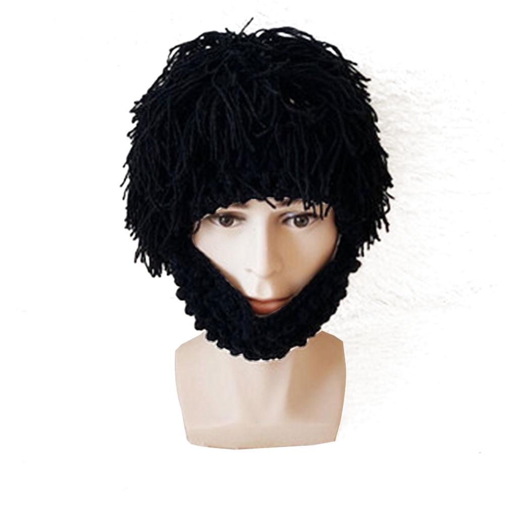 3f756a29b3e High Quality Design Beard Wig Hats Handmade Knit Warm Winter Caps ...