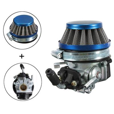 Blue Racing Carb Carburetor & Air Filter For 49cc 50cc 60 66 80cc 2 Stroke  Motorized Bike Bicycle