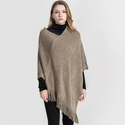 Stylish Women Lady Wrap Shawl Cape Soft Poncho Winter Warm Scarf Knit Tassel New