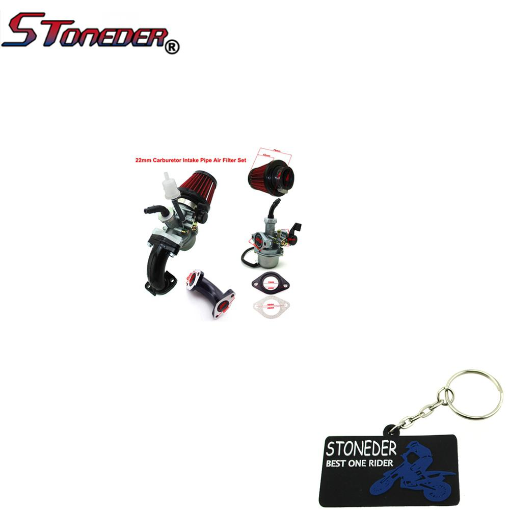 STONEDER Mikuni 26mm Carb Air Filter Intake Pipe Set For Chinese 110 140cc YX Pit Bike