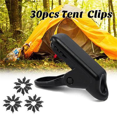6x//bag Awning Clamp Tarp Clips Snap HangersTent Camping Survival Tighten  KS