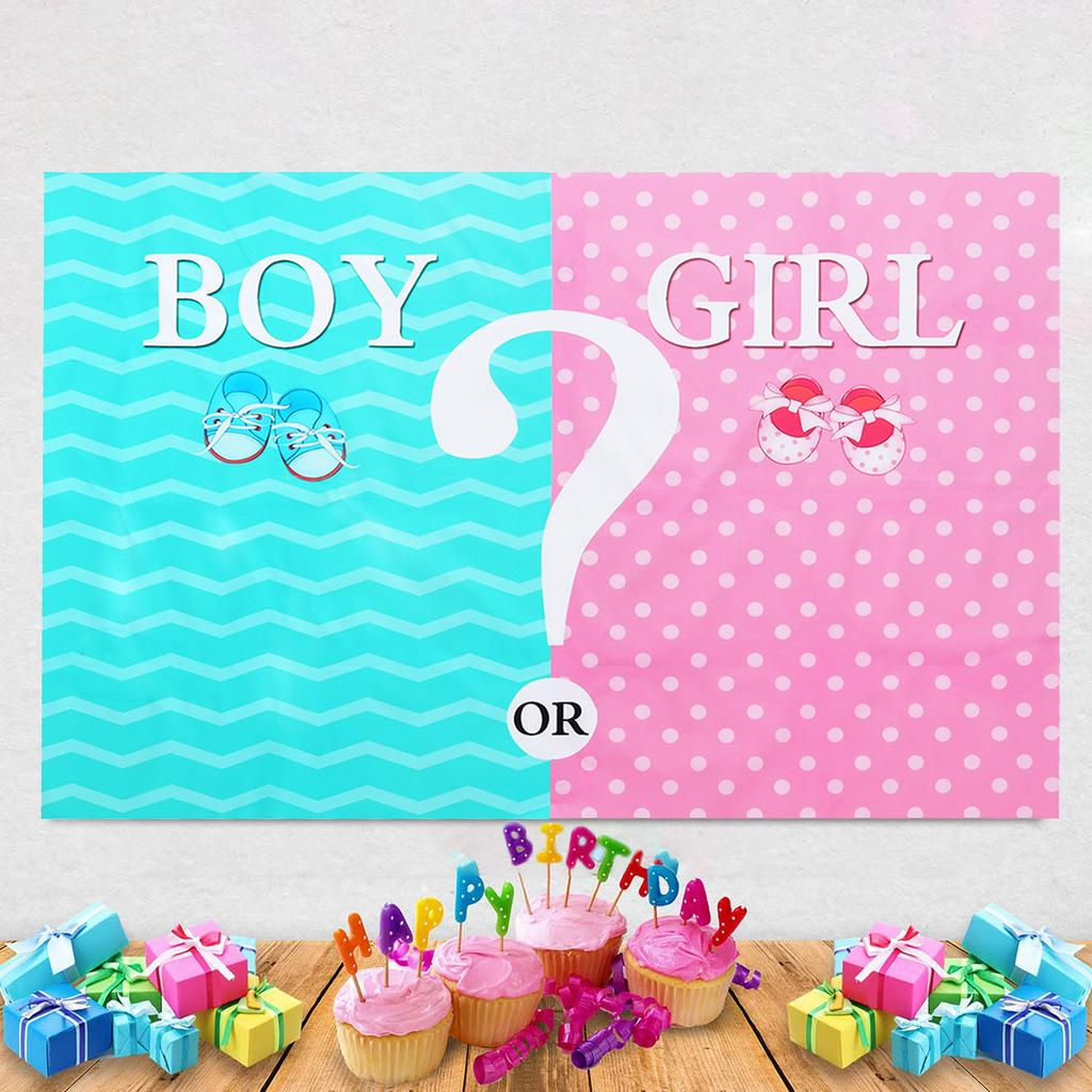 Boy or Girl Backdrop Gender Reveal Backdrop Shining Spots Backdrops Baby Shower Party Decor Background Photo Booth Shoot Studio Props