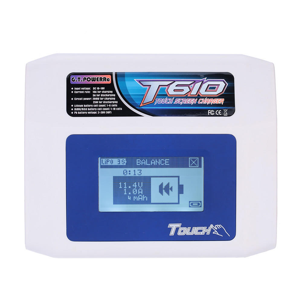 Gtpower T610 Touch Screen 200w Lipo Lion Nicd Nimh Battery Charger Latest Power Supplies Gt Chargers Low Voltage Dc Circuit 2 Of 12