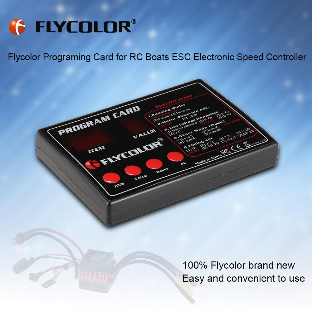 Original Flycolor Programing Card For Rc Boats Esc Electronic Speed Simple Bidirectional Dc Motor Controller Boy 2 Of 8