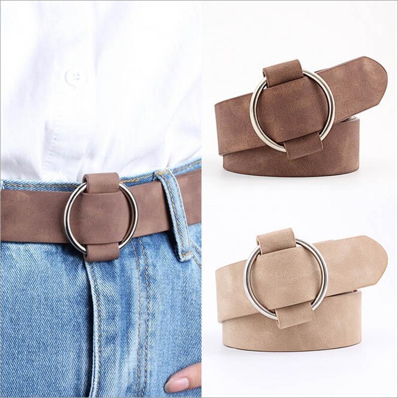 Women/'s Classic Buckle Belt Trendy Belts Jeans Dress Suede Velvet Waistband