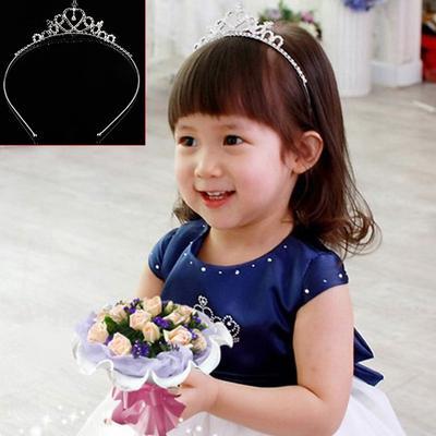 Pearl Hair Tiara Hair Band Kid Girl Bridal Princess Prom Crown Headband Jewelry