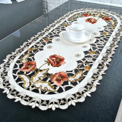 White Vintage Lace Table Runner Rectangle Tablecloth Mat Wedding Party Floral