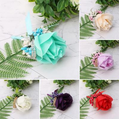 Green Butterfly and Green Rose Brooch Corsage Brooch Pin Green Rose Corsage Brooch Pin Green Boutonniere Butterfly Corsage