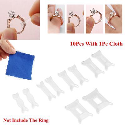 10Pcs Ajusteurs pour Bagues Ring Sizer Ajusteur Réducteurs de Bagues Lot FR