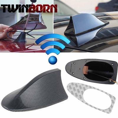 Waterproof Carbon Fiber Style Shark Fin Antenna FM Radio Signal Aerial for Car