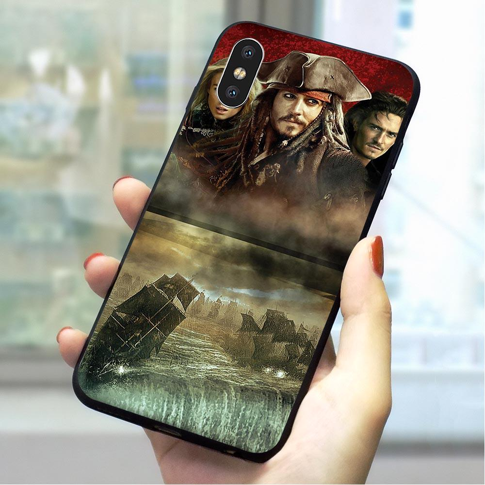Hybrid Pirates of the Caribbean Phone Cover for iPhone 6S Plus 7 8 X Xs XR 11 Pro Max 5 5S SE 6 Case