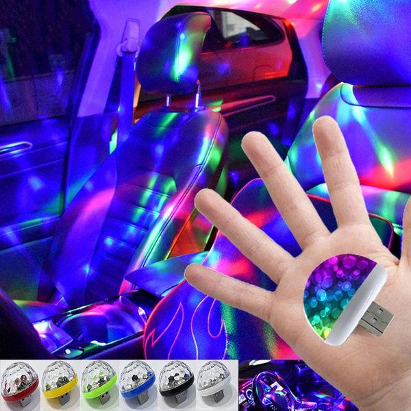 Модный Multi Цвет Usb Led автомобиль Интерьер Освещение Kit Атмосфера Свет Неоновые лампы – купить по низким ценам в интернет-магазине Joom