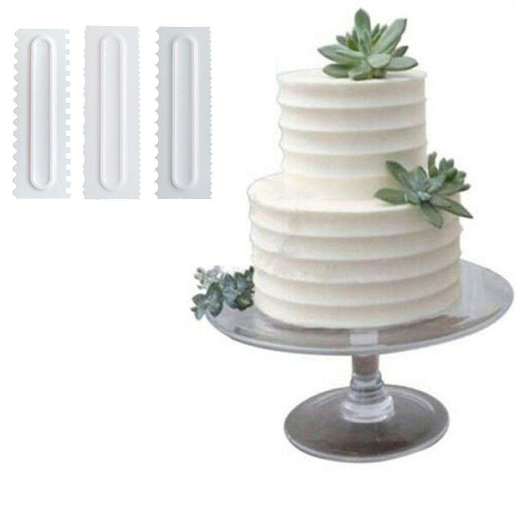 Cream Pastry Smoother Cake Pastry Scraper Cake Comb Durable Cream Baking Tool