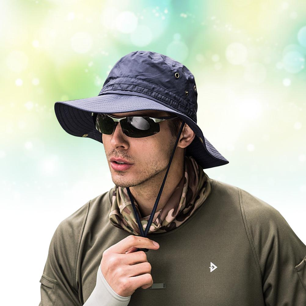 Bucket Hat Wide Brim Fishing Sunhat Quick Dry Men Women Camping Breathable
