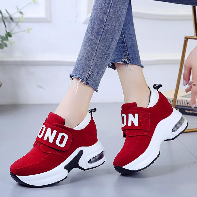 Details about  /Women/'s Gym Sport Trainers Cushioned Wedge Sneaker Slipper Ladies Casual Shoes