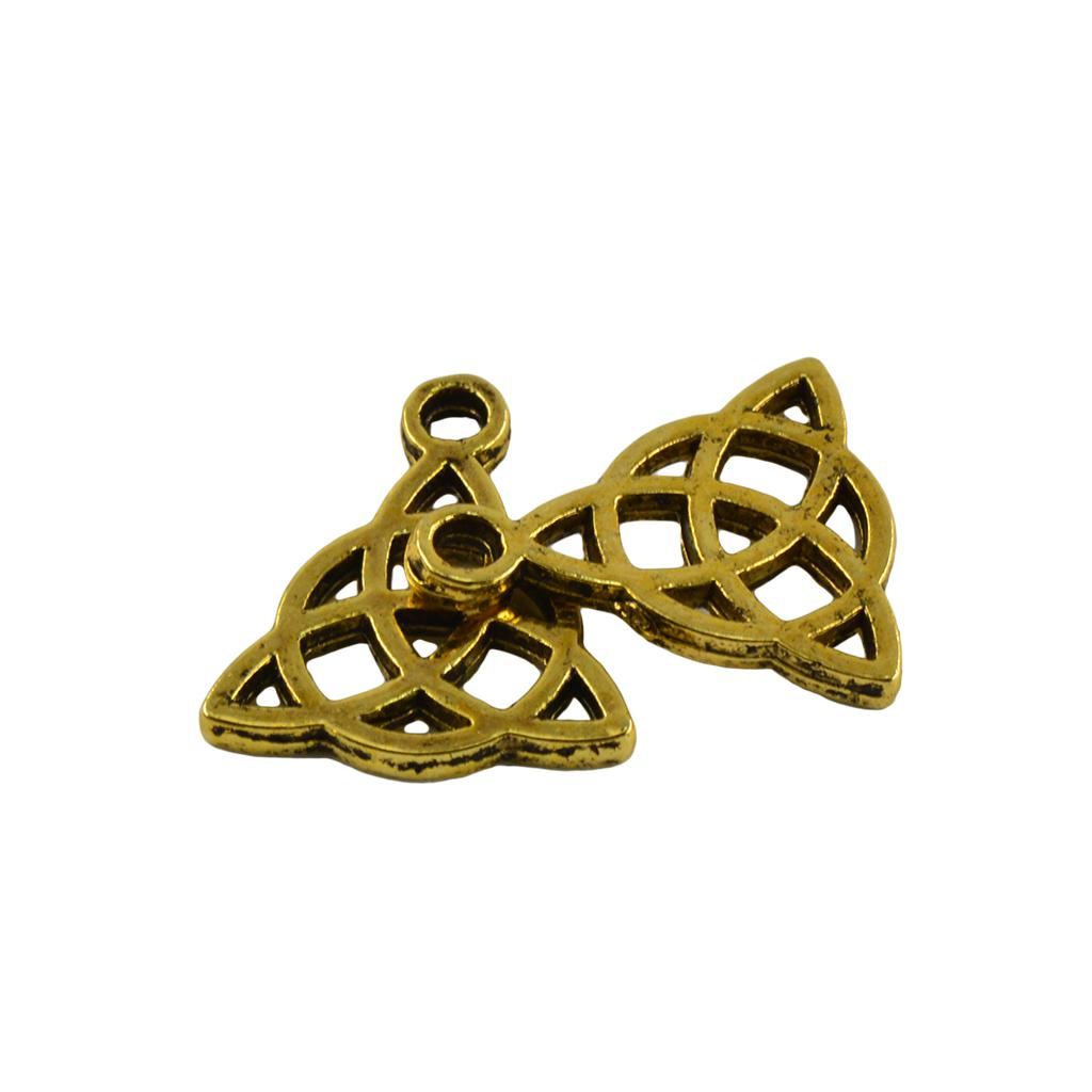 20 Pcs Antique Silver Celtic Knot Stars Charms Pendants DIY Jewelry Making