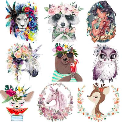 Cartoon Animal Patches Clothing Patches Washable Iron On Heat Transfer Fashion Diy Accessory Stickers Iron Sticker For Clothing