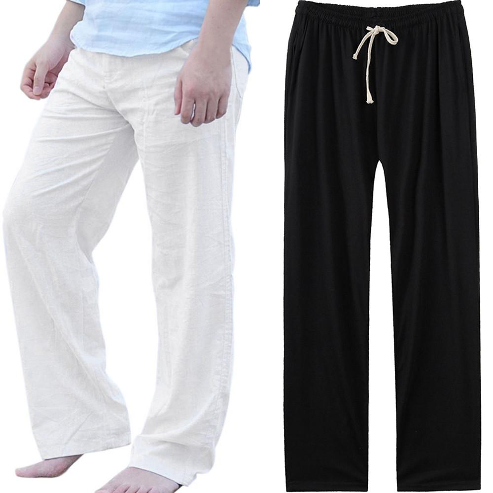 Fashion Men/'s Casual Solid Loose Sweatpants Trousers Jogger Dancing Yoga Pant CA