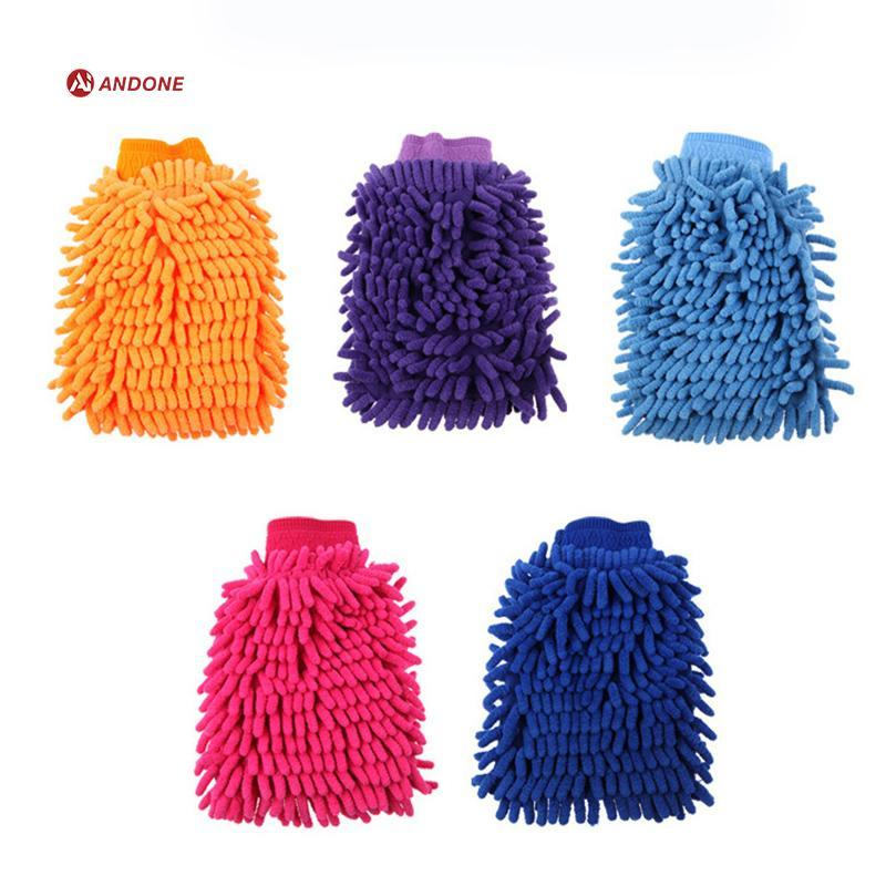 Ultrafine Fiber Mitt Microfiber Household Car Wash Washing Car Cleaning Dry Glove Anti Scratch for Car Cleaning Color Random