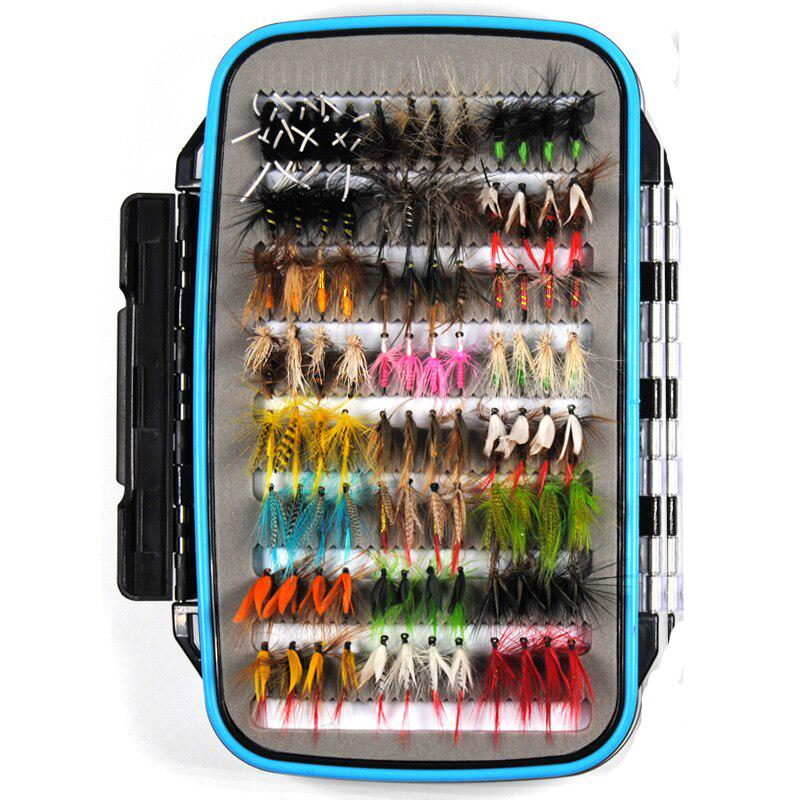 Details about  /40pcs//Box Trout Fly Fishing Lure Dry Wet Flies Nymphs Fish Artificial Bait