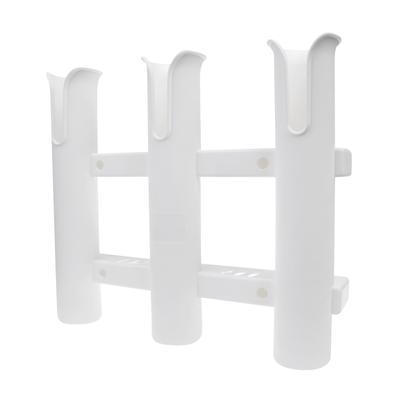 2x 3 Pole Tube Rack Fishing Rod Holder Triple Rod Holder w// Mounting Screws
