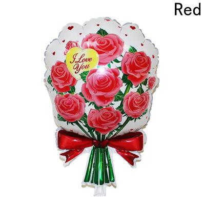 1 PC Rose Marriage Wedding Birthday Party Decoration Aluminum Balloons Flower Roses