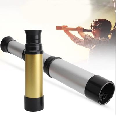 Silver NUOBESTY Plastic Pirate Telescope Toys Creative Single-Tube Collapsible Telescope Toys Kids Science Experiment Toy Party Favor