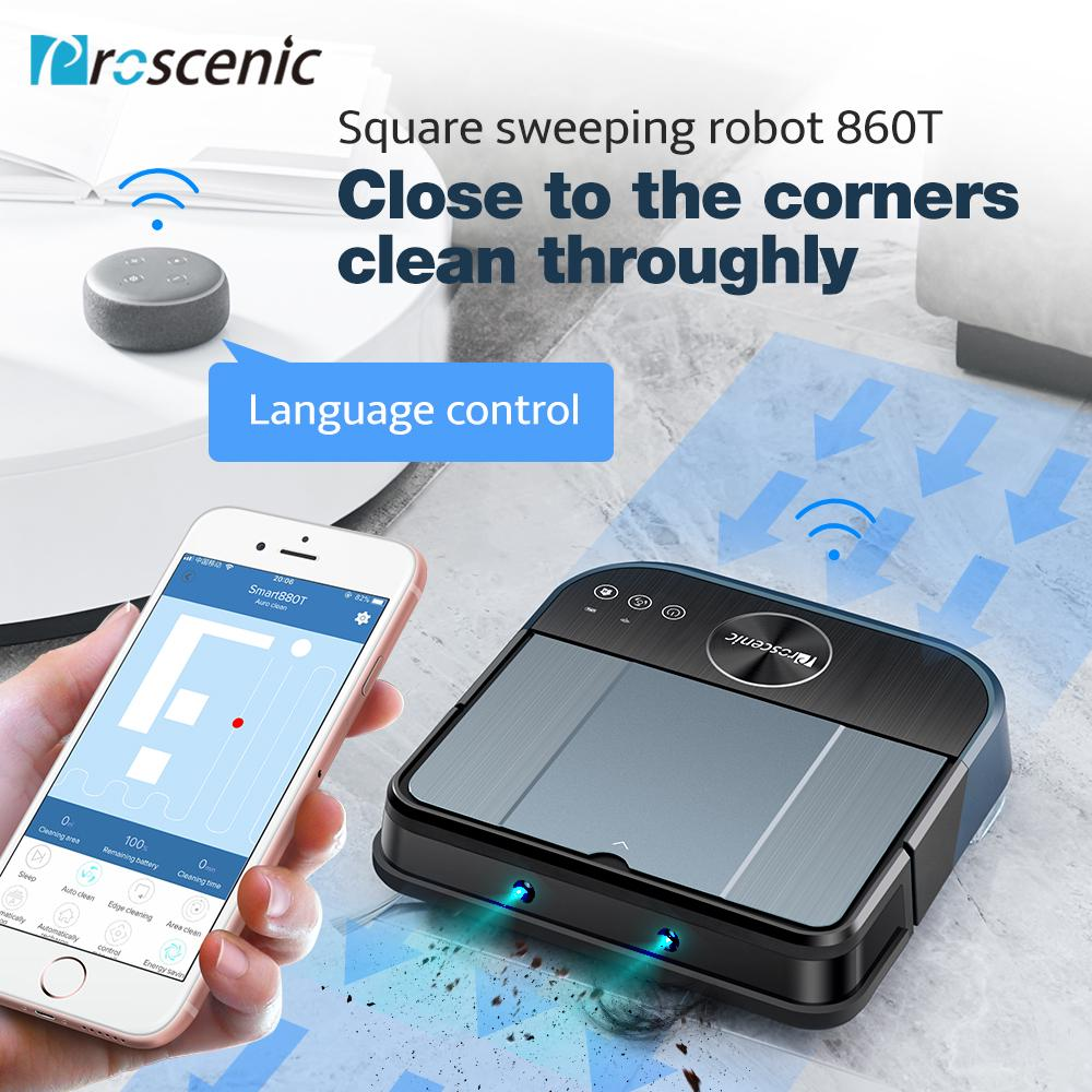 Proscenic 880L Robot Vacuum Cleaner for Home Automatic Sweeping Dust Sterilize APP Smart
