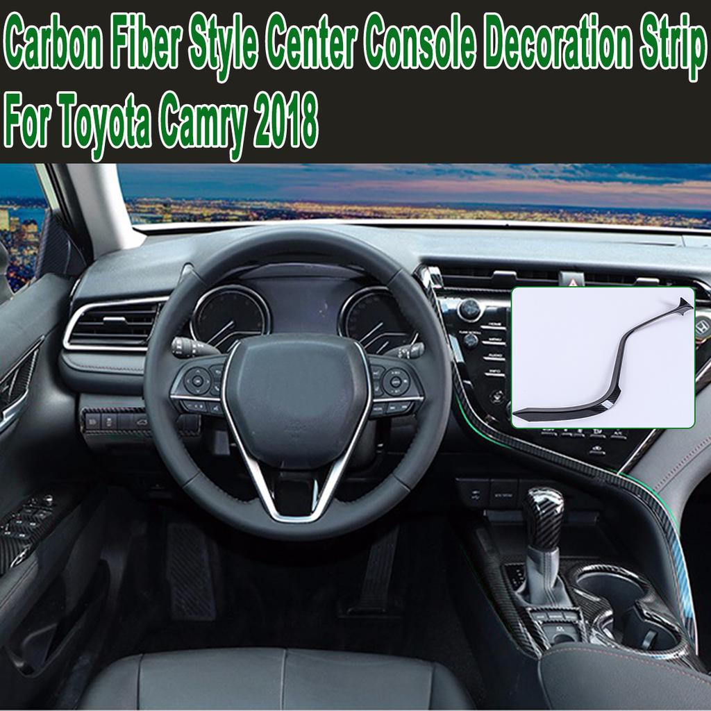 Carbon fiber style Center Console Stripe Decorative Trim For Mazda 3 Axela 2017