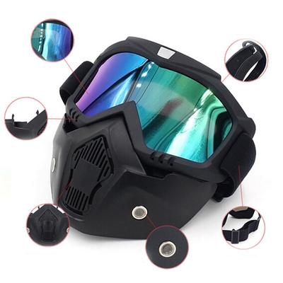 f4c49941d9 Cycling Ski Snowboard Eyewear Wind Stopper Face Mask Goggles Bike Glasses  for Snow Sports