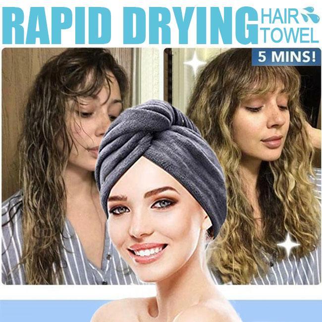 Microfiber Quick Drying Bath Towel Hair Dry Shower Cap Soft Head Wrap Turban Hat