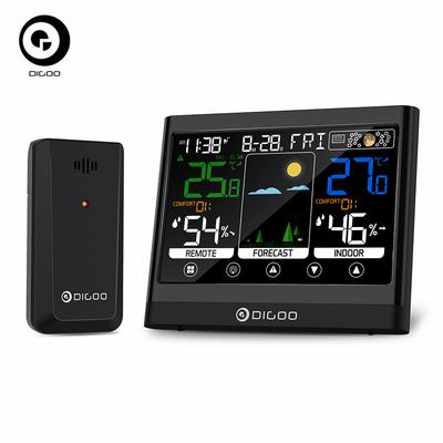 DIGOO LCD Electronic Digital Temperature Humidity Meter Thermometer Hygrometer Indoor Outdoor Weather Station Clock DG-TH8622