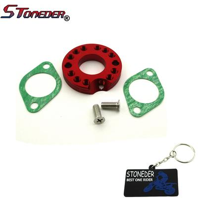 STONEDER 26mm Carburetor Manifold Spinner Plate Adaptor With Gaskets Screws  For Dirt Pit Bike Motor