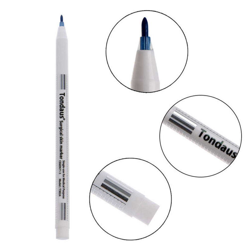 Tattoo accesories surgical skin marker pen ruler tool piercing permanent  eyebrow measuring